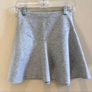 Silence + Noise Light Grey Flare Skirt